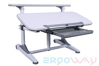 Комплект Детская парта растишка трансформер Ergoway T350M Gray + кресло M350 + ПОДАРКИ, фото 3