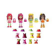 Игровой набор Шарлотта Земляничка серии Ягодный гардероб 4 куколки и 20 элементов одежды