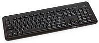 Клавиатура HQ-Tech KB-307F Black, USB с подсветкой букв (белая)