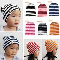 Стильная шапочка  на деток в полоску  4 цвета