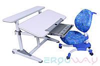Комплект Детская парта растишка трансформер Ergoway T350L + кресло M350 Gray + ПОДАРКИ
