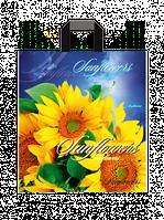 """Пакет с петлевой ручкой средний """"Солнечные цветы"""" (35х38+3)80 мкм 25шт/упаковка"""
