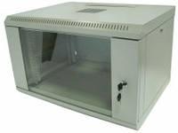 Шкаф коммутационный настенный 6U 600x450 черный