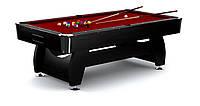 Бильярдный стол Vip Extra 9ft черно-красный