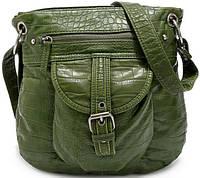 Молодежная женская сумка через плече из искусственной кожи Bueno 7220-03, зеленый
