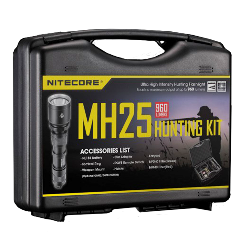 Набор для ночной охоты Nitecore MH25, 960 люмен, 310 метров, 1x18650
