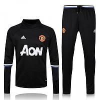 Спортивный костюм Adidas, Манчестер Юнайтед (черный). Футбольный, тренировочный. Сезон 16/17 (реплика), фото 1