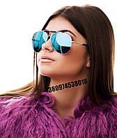 Солнцезащитные очки Balmain  голубые с58