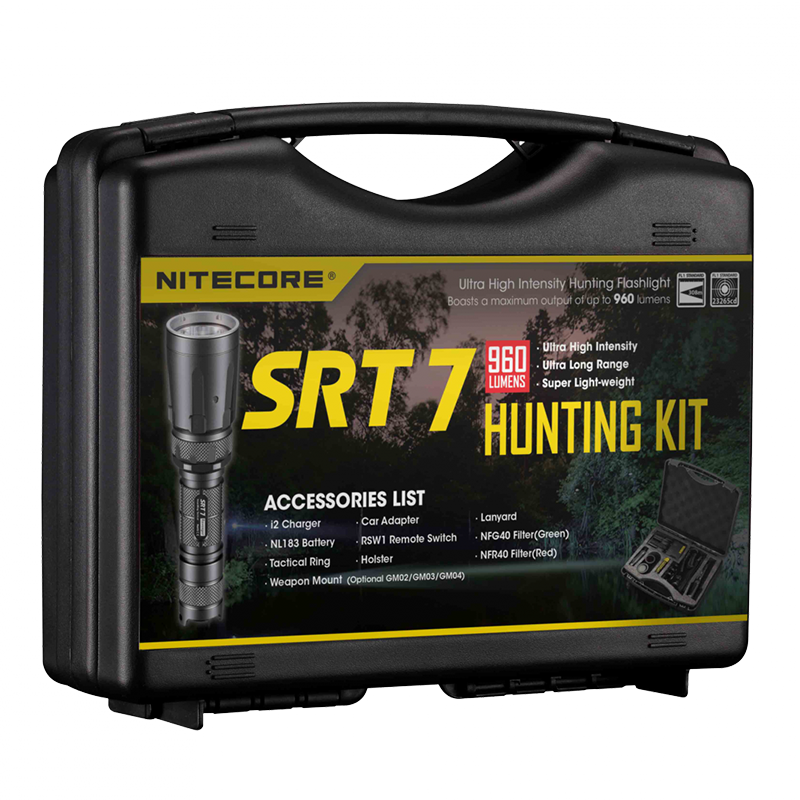 Набор для ночной охоты Nitecore SRT7, 960 люмен, 308 метров, 1x18650