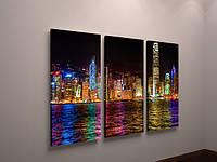 Модульная картина для декора гостиной Нью-Йорк 90х60 из 3х частей