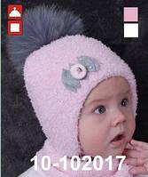 Комплект для девочки шапка и снуд с искусственным мехом арт. 10-102017