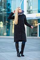 Зимнее пальто Дакота чернобурка