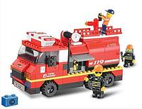 """Конструктор SLUBAN """"Пожарные спасатели"""" 281 деталь арт.M38-B0220, фото 1"""