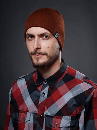 Мужская коричневая зимняя шапка Urban Planet С26 BRWN, фото 2