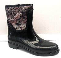 Женские стильные резиновые сапоги утепленные Uk0157
