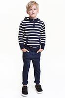 Детские стильные синие зауженные джинсы для мальчика h&m