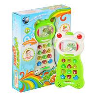 Интерактивный умный мульти - телефон 894606 R/FR 352. Запись, сказки, музыка, свет