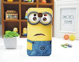 Чехол силиконовый бампер для Samsung s4 mini Galaxy i9190 с рисунком Миньон Кевин