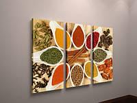 Картина модульная для кухни цветная часы