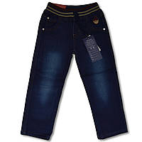 Утепленные джинсы на флисе для мальчиков, 6 лет, Merkiato