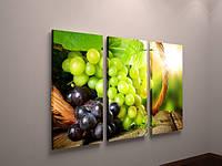 Картина модульная для кухни виноград