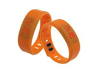 Спортивные силиконовые Led часы orange