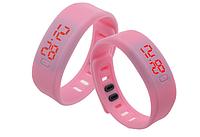 Спортивные силиконовые Led часы pink