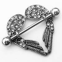 """Для пирсинга сосков """"Ангельское сердце"""". Медицинская сталь."""