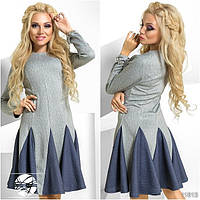 Платье с клешеной юбкой