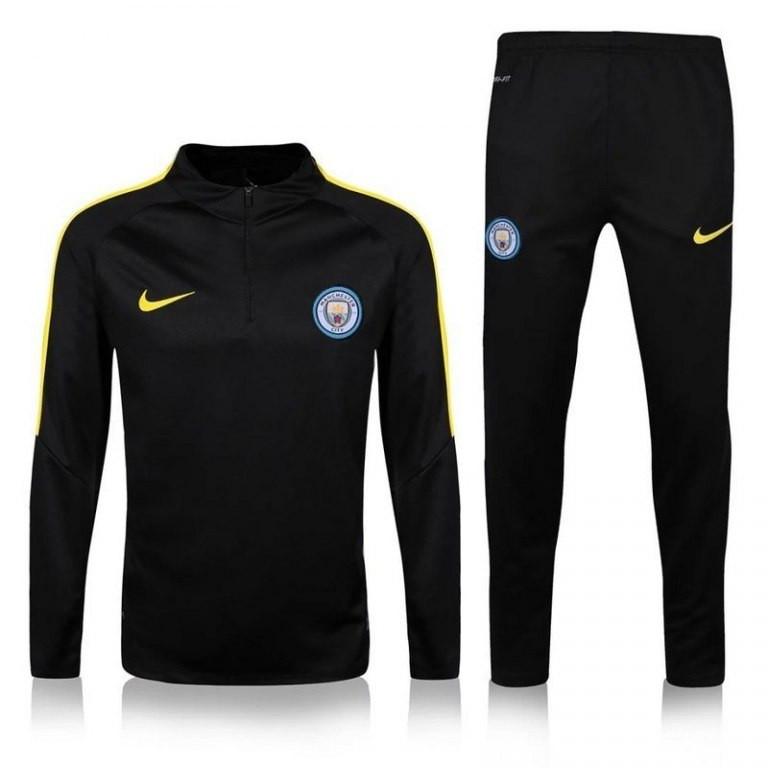Спортивный костюм Nike, Манчестер Сити (черный). Футбольный, тренировочный.  Сезон 16 6ecf3ab7d79