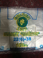 "Пакеты майка ""Golden Lion"" 100 шт/уп/ 90 грамм"