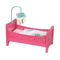 Интерактивная кроватка для куклы BABY BORN - РАДУЖНЫЕ СНЫ (с постельным наб. и мобилем, свет, звук)