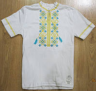 Вышиванка детская на мальчика (герб), вышиванка белая