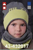 Шапка для мальчика без хомута арт. 43-432017