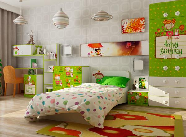 """Набор мебели для детской спальни """"Яблочко"""""""