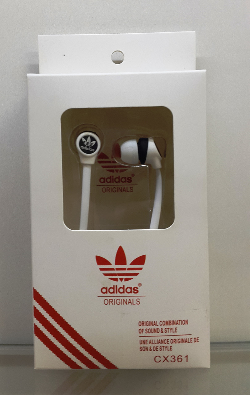 Наушники Adidas  CX 361 без микрофона 3,5mm
