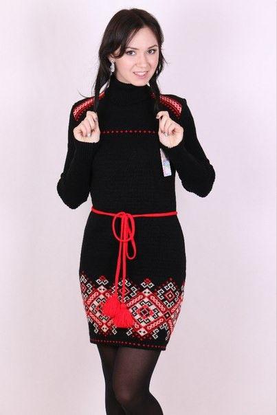 Вязаная платье с орнаментом