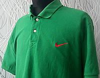 Стильная мужская футболка поло Nike зеленая ХХЛ