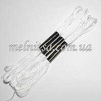 Нитки мулине  Interbird, цвет белый, 1 моток, 8 м, фото 1