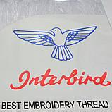 Нитки мулине  Interbird, цвет белый, 1 моток, 8 м, фото 3