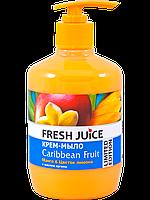 Жидкое крем-мыло Caribbean Fruit Mango 460мл Fresh Juice