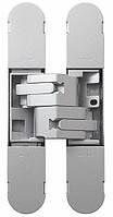 Петля дверная скрытая регулируемая 1230-130х30 3D, 2шт-50кг Матовое Серебро