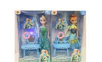 Кукла принцесса Эльза, Анна Frozen Холодное сердце с музыкальным трюмо, свет, 2 вида