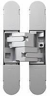 Петля дверная скрытая регулируемая 1130-134х24 3D, 2шт-40кг Матовое Серебро