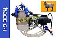 Доильный аппарат Импульс ПБК-4 от 1-8 овец (сил.рез.) ведро поликарбонат 22 л.