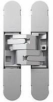 Петля дверная скрытая регулируемая 1129-100х22 3D, 2шт-25кг Матовое Серебро