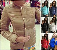 Модная Прямая Куртка на синтепоне Шанель-CHANEL Натали БАТАЛ! 7 ЦВЕТОВ!