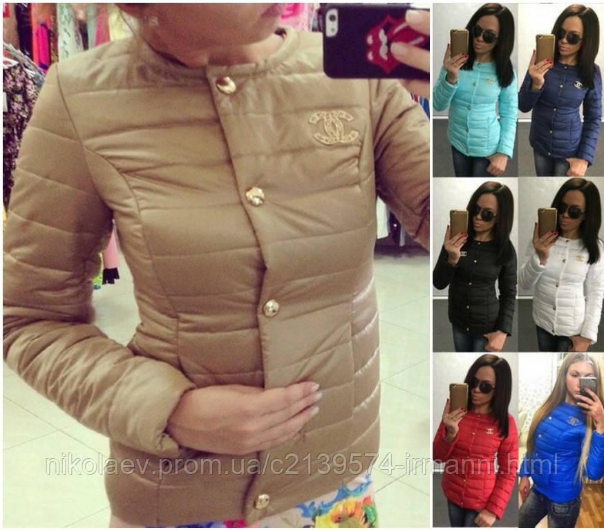 Модная Прямая Куртка на синтепоне Шанель-CHANEL Натали БАТАЛ! 7 ЦВЕТОВ! e499bbeb09e