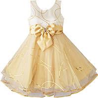 """Платье для девочки Sunboree """"Шампань"""" р.9/10"""