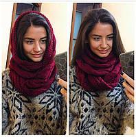 Женский стильный теплый шарф-хомут (снуд/8-ка) (4 цвета)